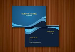 Affaires Design Carte bleue de style contemporain vecteur