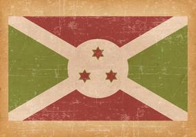 Falg du Burundi sur fond grunge vecteur