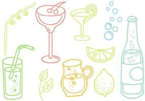 Vecteurs boissons gratuites Doodle vecteur