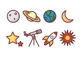 Astronomie Icon Pack vecteur