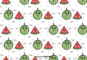 Motif Vector Cartoon pastèque