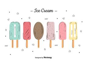 Ice Cream Set vecteur