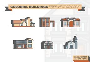 Bâtiments coloniaux gratuit Pack Vector