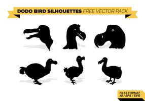 Dodo silhouettes d'oiseaux vecteur Pack gratuit
