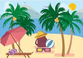 Vecteur palm beach