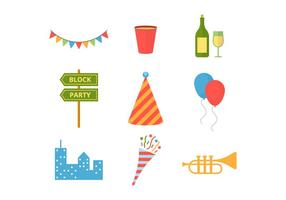 Party Vector Icons Bloc gratuit