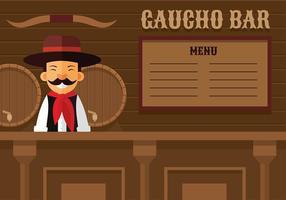 Gaucho Bar Vecteur libre