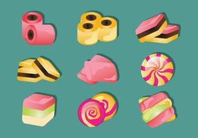 Réglisse bonbons Icônes vecteur