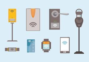 Les vecteurs d'unité NFC vecteur
