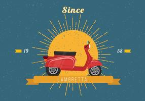Illustration Lambretta Vecteur Vintage