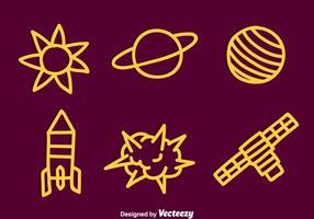 Vecteur d'élément spatial dessiné à la main