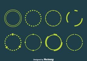 Vecteurs d'éléments vert hud vecteur