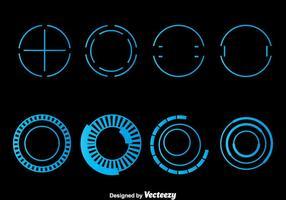 Vecteur bleu Hud Element