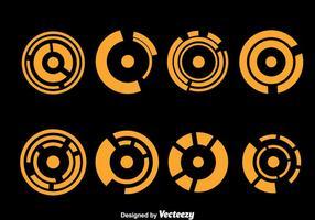 Orange Hud vecteurs d'élément visuel vecteur