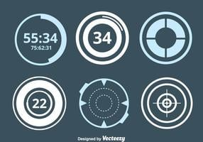 Cercle Vector Hud Element Collection