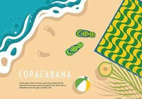 Vecteur de fond la plage de Copacabana