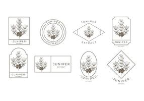 Grandes lignes Juniper Logo Vector gratuit