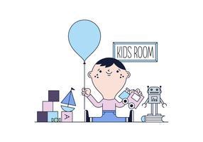 Vecteur libre Chambre Kid