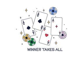 Vecteur de poker gratuit