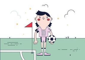 Vecteur libre joueur de football