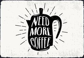 Café vecteur libre Kettle Silhouette Illustration avec Typographie
