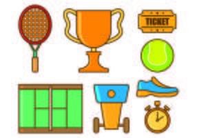 Set de tennis icônes