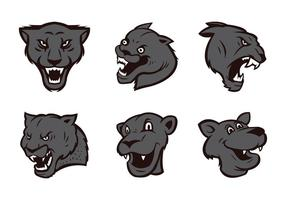 Panthers Logo Set vecteur