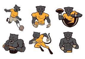 Panthers gratuit Mascot Vector
