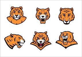 Tiger Logo Set vecteur