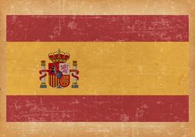 Drapeau de l'Espagne sur fond grunge vecteur