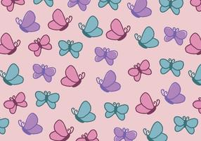 Motif mignon et féminin plein de papillons vecteur