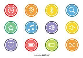 Vecteur icônes plates pour le Web et Mobile