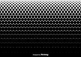 Halftone Hexagons Texture Background - Vector