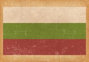Drapeau de la Bulgarie sur le fond grunge