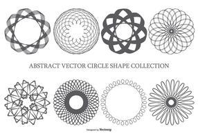 Formes abstraites du cercle vecteur