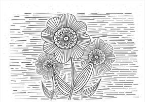 Illustration de fleur de vecteur libre