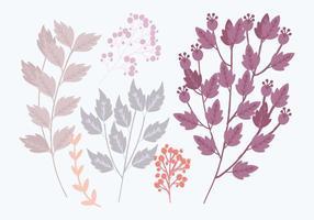 Branches vectorielles colorées vecteur