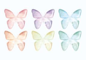 Collection de papillons à main dessinée à main vecteur