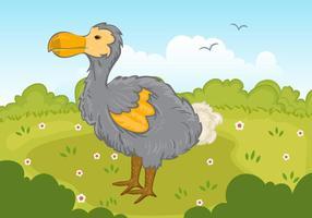 Dodo Bird In Park Vector
