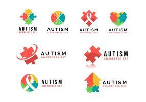 Sensibilisation à l'autisme jour Logo Vecteur