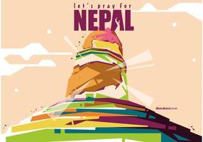 Nepal Tower Vector Wpap