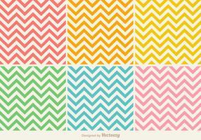 Modèle coloré en couleurs Zig Zag coloré