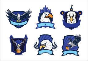 Ensemble de vecteur libre Eagles Logo