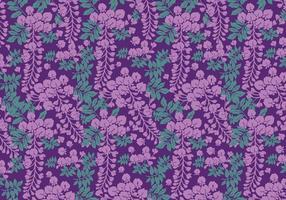 Wisteria Pattern Purple Vector