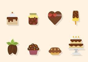 Vecteurs de chocolat plat