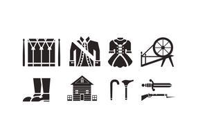 Icônes vectorielles coloniales