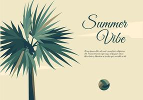 Palmetto Summer Vibe Free Vector