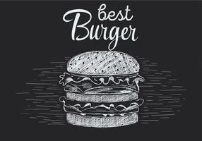 Illustration de Burger vectorielle à dessin gratuit vecteur