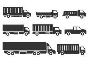 Icônes de camion gratuites vecteur