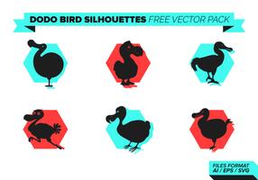 Dodo Bird Silhouettes Free Vector Pack